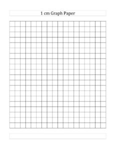 1 cm Squared Graph Paper