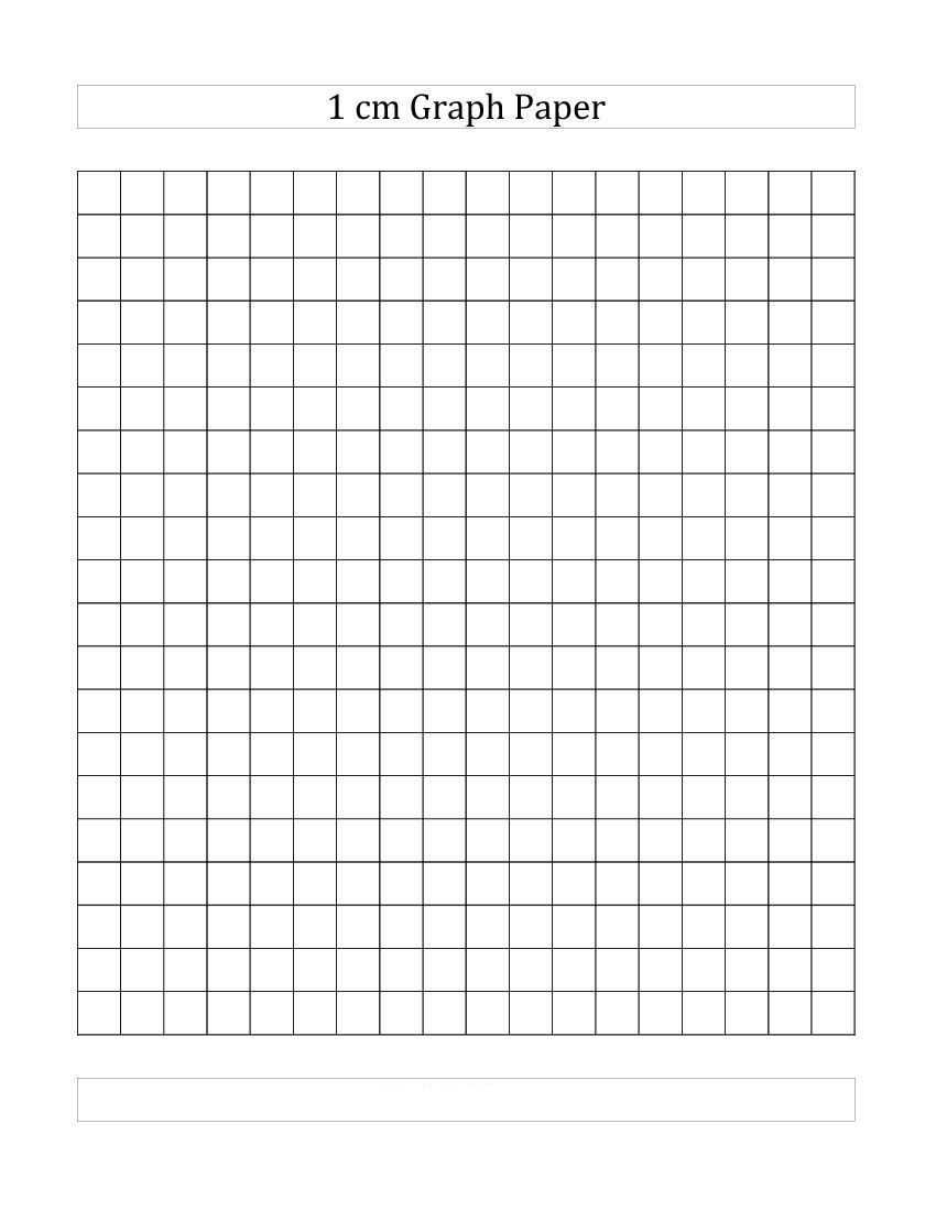 1 cm Squared Graph Paper