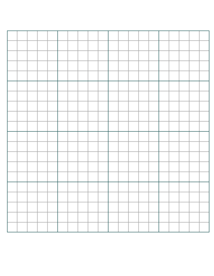 Coordinate Graph Paper