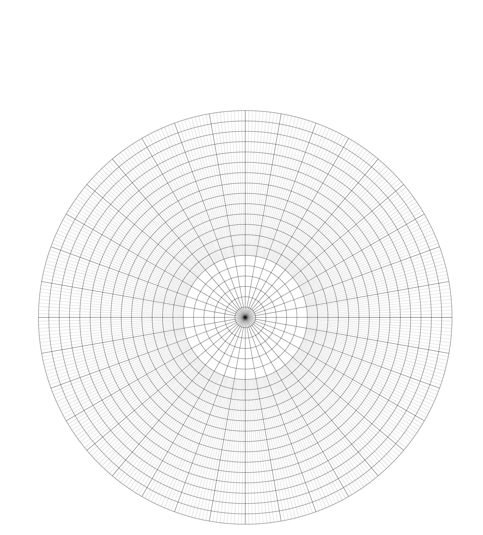 Polar Graph Paper Printable