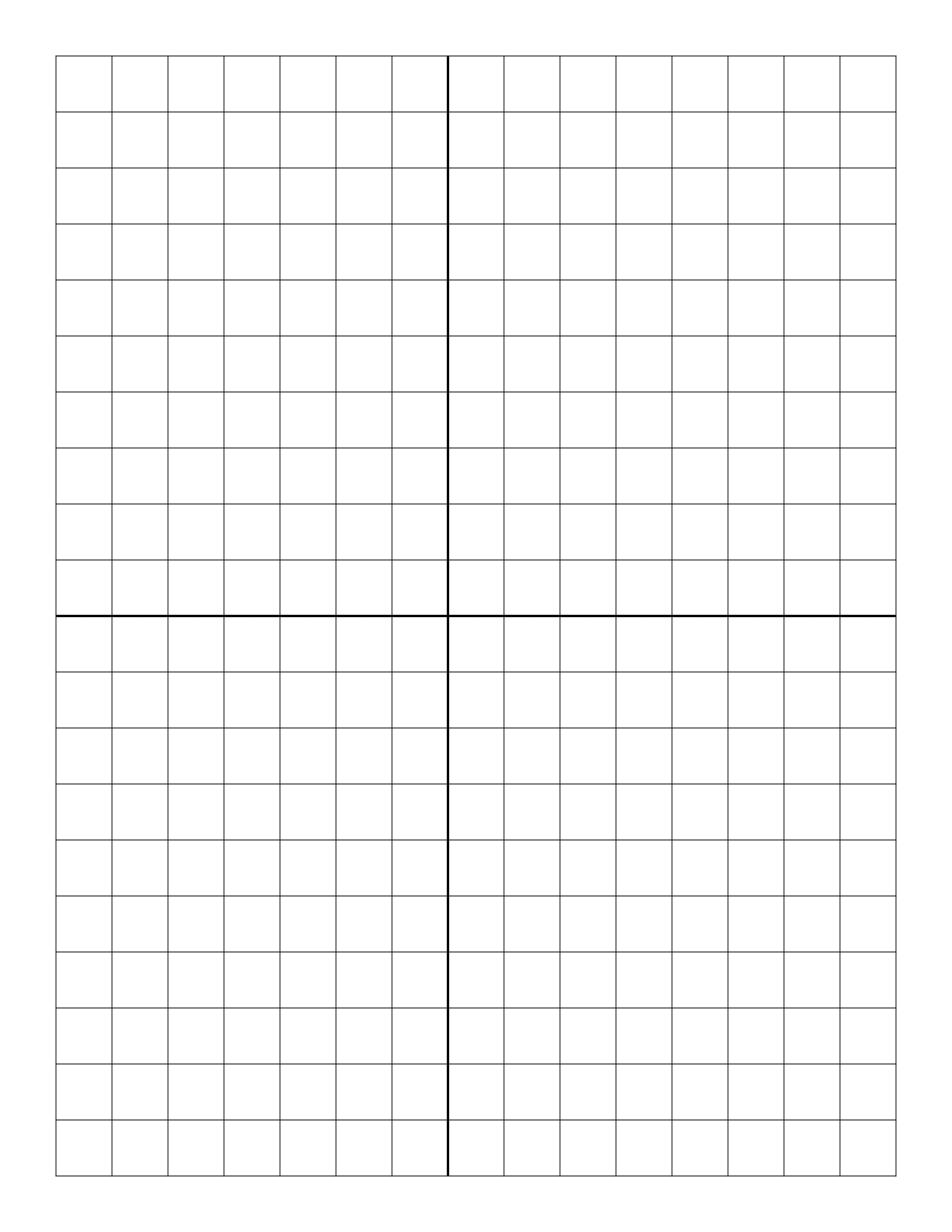 Printable Grid Paper with Axis