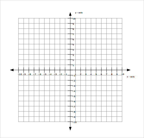 Blank Graph Paper With Axis For Maths