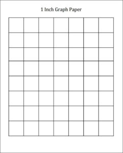 Printable 1 Inch Graph Paper