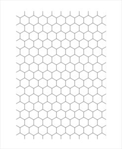 Hexagon Graph Paper Printable