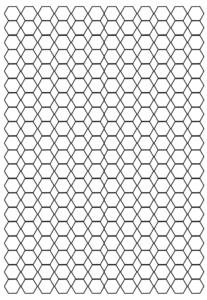 Hexagonal Graph Paper Template