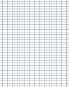 Printable Knitting Grid Paper