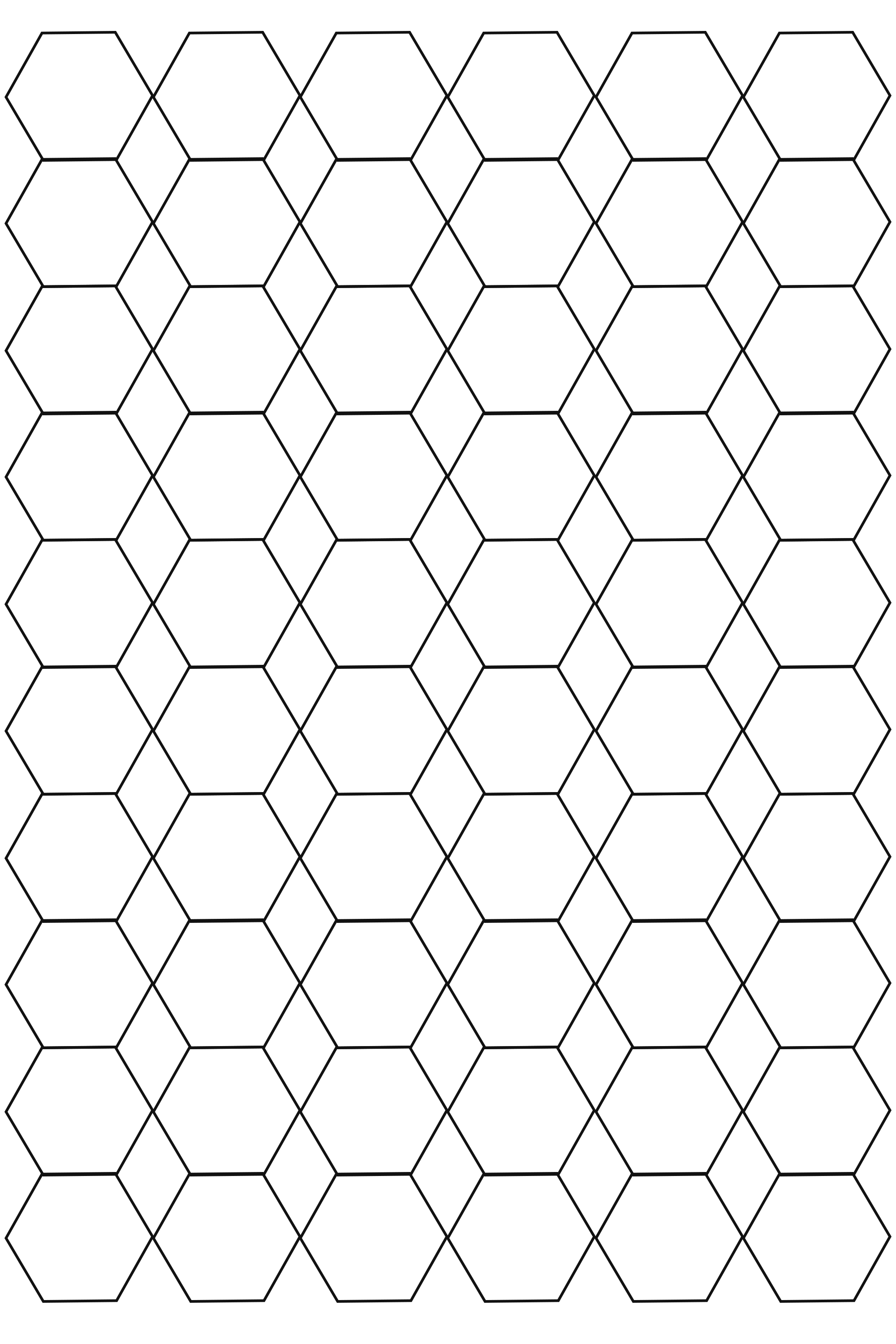 Free Hexagon Graph Paper