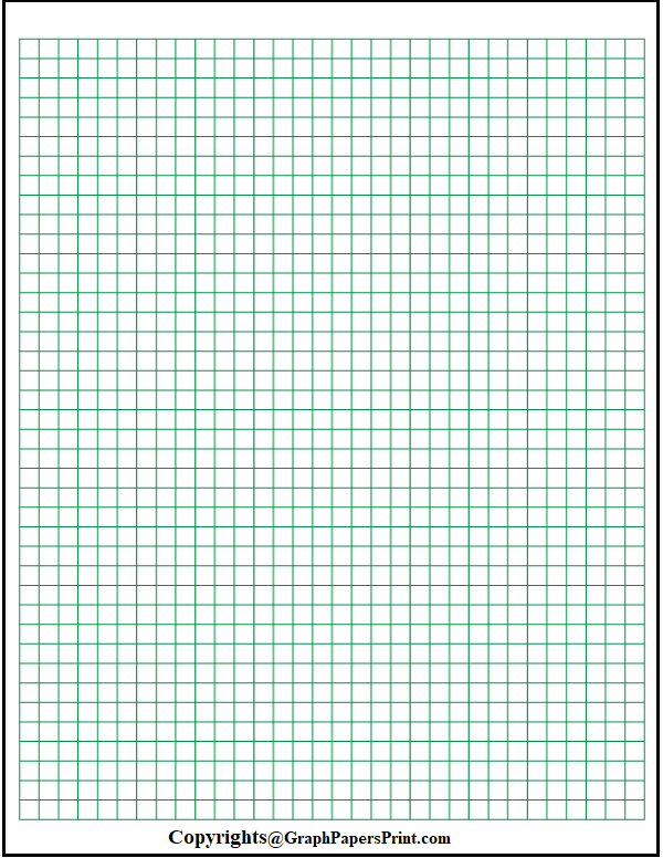1/4 Inch Graph Paper Printable
