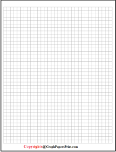 1/4 Inch Graph Paper Template