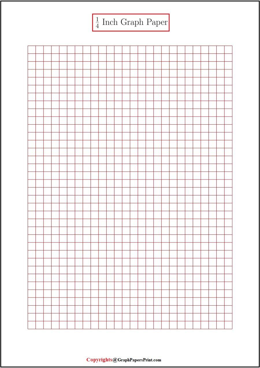 Free Printable 1 4 Inch Graph Paper Template Pdf Graph Paper Print