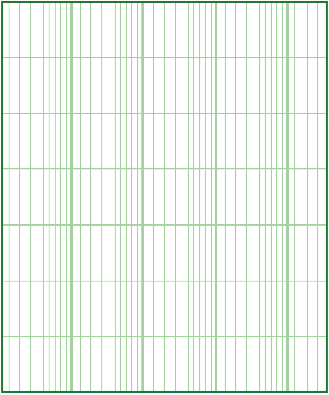 Blank Logarithmic Graph Paper